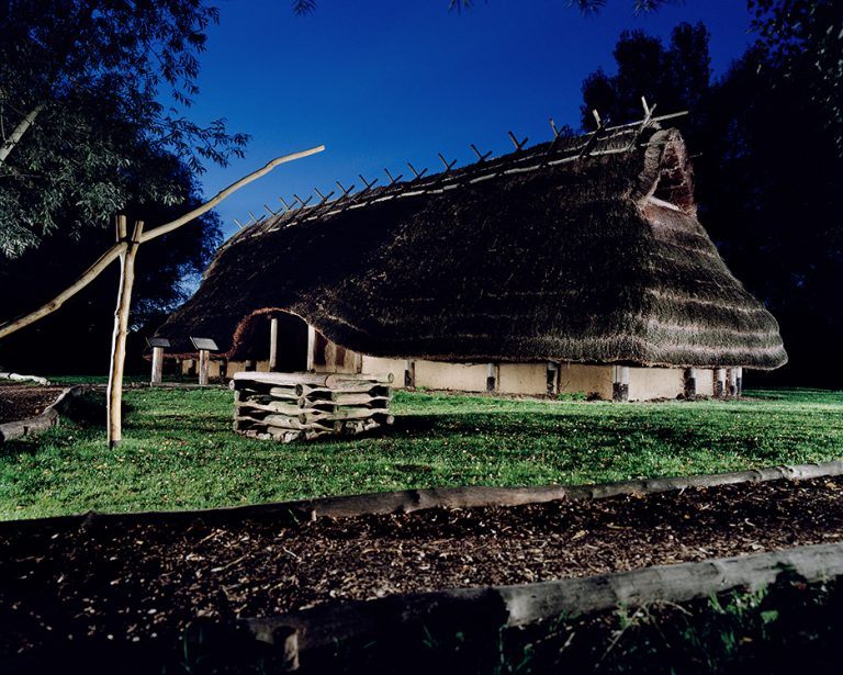 The Germanic People: Reconstruction of a germanic village in Oberdorla, Germany.