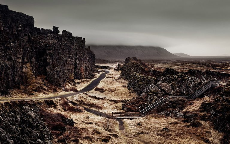 þingvellir, Iceland. The Althing, an assembly of all free men is one of the oldest parliaments in the world